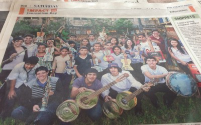 Making Music Out of Trash- Article From Straits Times